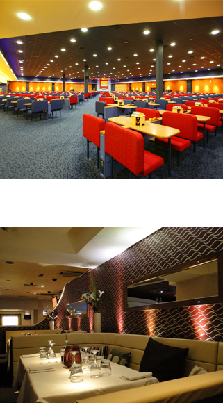 electrical design and installation in a casino and restaurant by Viking Electrics